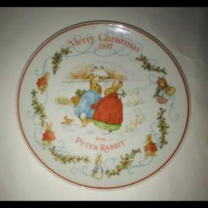 New Peter Rabbit Wedgwood Christmas Plate 1997